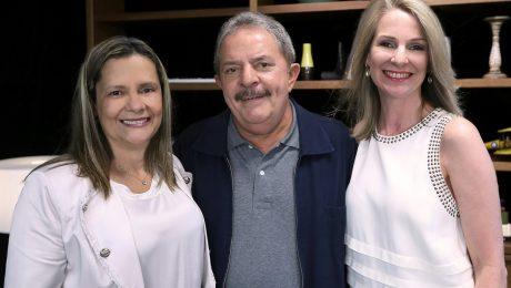 Maria Olívia Samek, Lula e Mirian Gonçalves.