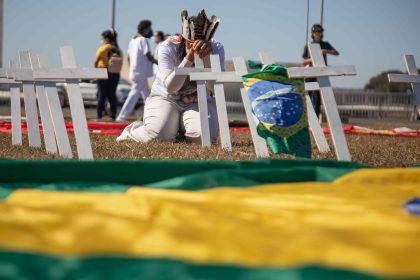 Ato de entrega do pedido de impeachment de Bolsonaro nesta terça-feira (14). Foto: Gabriel Paiva / Fotos Públicas