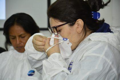 Treinamento para servidores da saúde. Foto : Marcio James / Semcom / Fotos Públicas